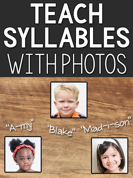 Teach Syllables Using Children